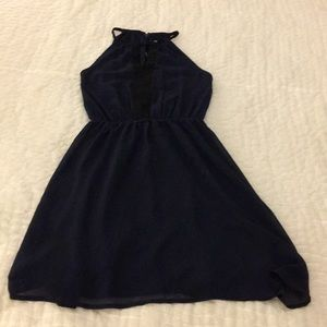 H&M Navy/Black Dress